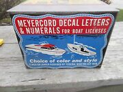 Vintage Original Meyercord Boat Decal Sign Case Box Advertising Outboard - Neat