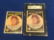 1959 Topps George Sparky Anderson Rookie Card White Letter Yellowless Error Sgc