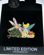 Rare Le100 Disney Pin✿tink Tinker Bell Nature Series Dragonfly Flower Garden New