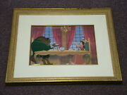 Disney Beauty And The Beast - Limited Edition Cel W/ Coa - Breakfast For Two