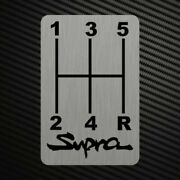 Supra Gearshift H-patterns Sticker Decal Gearbox Transmission Manual For Toyota