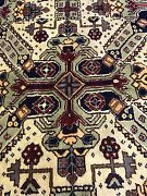 Exquisite Antique 1900-1940and039s Wool Pile Natural Dye Cross Patterned Armenian Rug