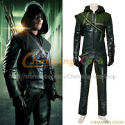 Green Arrow Season 1 Oliver Queen Cosplay Costume Men Uniform Green Outfit Cool