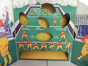 Football Game Board Backdrop Arena By Woolsey Circa 1920's. Very Rare