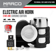Marco Chrome Electric Air Horn For Trucks Horn For Car Motorcycle Dual Tone