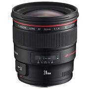 Canon Single Focus Wide Angle Lens Ef 24 Mm F 1.4 L Ii Usm Full Size New New