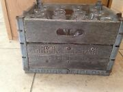 Brookfield Farms Westfield Ct Wooden Dairy Milk Crate For Quart Glass Jars