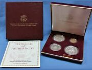 1995 Us Olympic Coins Of The Atlanta Cent. Games 4 Coin Proof Set With Gold Coin