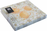3 Ply Christmas Bauble Napkins 33 X 33cm Square Party Serviettes Tableware Cater
