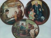 Nib 3 Norman Rockwell The Ones We Love Knowles Collector China Plates