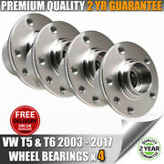 Vw Volkswagen T5 Transporter Front And Rear Wheel Bearings Hubs X 4 All Models
