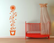 Kids Height Measurement Sunflower - Highest Quality Wall Decal Sticker