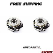 Pair 2011-16 Ford F-350 Super Duty 4wd Front Wheel Bearing And Hub Assembly