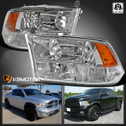 For 2009-2018 Dodge Ram 1500 2500 3500 Clear Quad Headlights Lamps Left+right