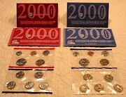 Set Of 5 1999 Pandd-commemorative Quarters Gold Editionandus Mint And Silver Proof Set