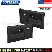 Coverlay Replacement Door Panel L+r Black 18-35w-blk Power Window And Manual Lock