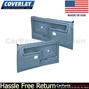 Coverlay Replacement Door Panel L+r Light Blue 12-45cts-lbl Slide Lock Only