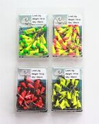 30 New Painted Shad Dart Jigheads 1/4 Oz Fishing Hooks Lures Bait Tackles
