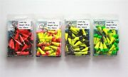 30 New Painted Shad Dart Jigheads 3/8 Oz Fishing Hooks Lures Bait Tackles