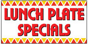 Lunch Plate Specials Vinyl Banner Advertising Sign. Full Color 2x4 Ft 2x6 2x8
