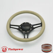 14and039and039 Billet Steering Wheels Tan Color Street Rod Gmc Cyclone Marquis Monterey