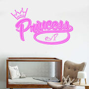 Vinyl Wall Decal Princess Baby Girl Room Decoration Shoe Stickers Ig4864