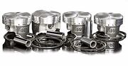 Wiseco 81.5mm 8.61 Pistons For Acura 1990-01 Integra Ls/gs B18a1 B18b1