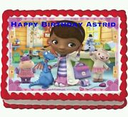 Doc Mcstuffins Birthday Party Edible Frosting Cake Topper 1/4 Sheet
