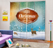 3d Christmas 7 Blockout Photo Curtain Printing Curtains Drapes Fabric Window Ca