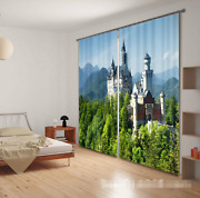 3d Castle Trees Blockout Photo Curtain Printing Curtains Drapes Fabric Window Ca