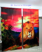 3d Paint Lion 7 Blockout Photo Curtain Printing Curtains Drapes Fabric Window Ca