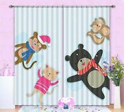 3d Animals Doll Blockout Photo Curtain Printing Curtains Drapes Fabric Window Ca