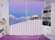 3d Snow House 9 Blockout Photo Curtain Printing Curtains Drapes Fabric Window Ca