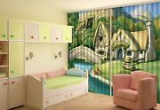 3d House Paint Blockout Photo Curtain Printing Curtains Drapes Fabric Window Ca