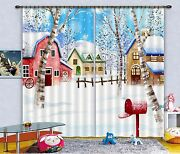 3d Snow House 8 Blockout Photo Curtain Printing Curtains Drapes Fabric Window Ca