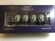 Liliput L235125 Flat Wagon Bt55 With 4 Containers Db Epoche Iii H0 New T48 Post