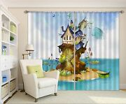 3d House Sea 76 Blockout Photo Curtain Printing Curtains Drapes Fabric Window Ca
