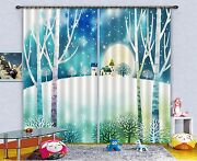 3d House Snow 8 Blockout Photo Curtain Printing Curtains Drapes Fabric Window Ca