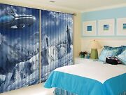 3d Dirigible Blockout Photo Curtain Printing Curtains Drapes Fabric Window Au