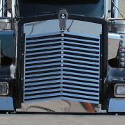 Kenworth W900l 1993+ Stainless Steel Angled Louvered Grill - 16 Bars