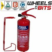 Abc Dry Powder 2 Kg Fire Extinguisher With Steel Wall Bracket Car Van Taxi Bus