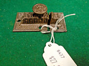 Vintage Eastlake Cabinet Latch W/ Steel Knob And With Keeper 8437