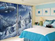 3d Dirigible 74 Blockout Photo Curtain Printing Curtains Drapes Fabric Window Us