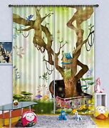 3d Trunk House Blockout Photo Curtain Print Curtains Drapes Fabric Window Us