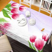 3d Flower 7127 Tablecloth Table Cover Cloth Birthday Party Event Aj Wallpaper Au