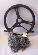 Babbitt 25-3/4 Od Adjustable Sprocket Rim With Chain Guide W/ 60 Ft 5/0 Chain