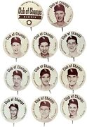 1952 Chicago White Sox Hawthorn-mellody Dairy Pin Set 11 Complete Nellie Fox