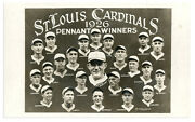 1926 St. Louis Cardinals Pennant Winners Real Photo Post Card W/ Rogers Hornsby