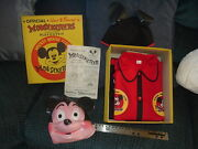 1950's Mickey Mouse Mouseketeers Costume Play Outfit New In Box Walt Disney