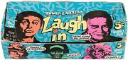 1968 Topps Gum Co Laugh In R710-18 Empty 5 Cent Wax Pack Display Box
